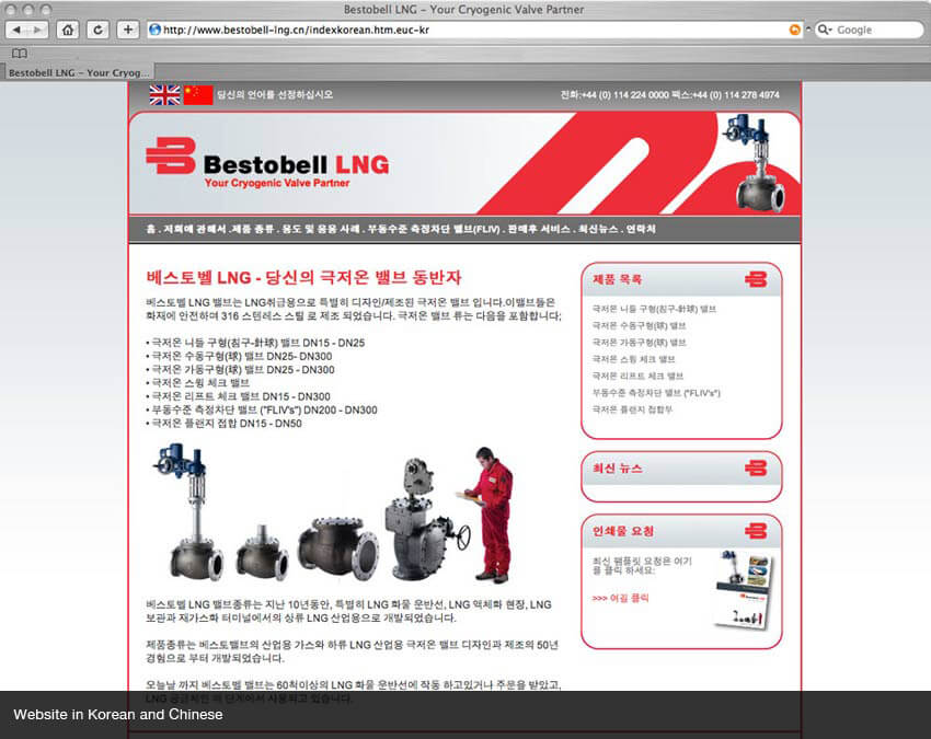 Korean website localization